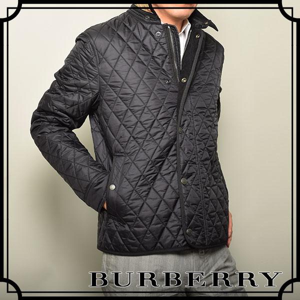 バーバリー(BURBERRY)キルティング メンズブルゾン ブラック 3902328-BLACK