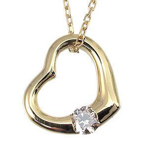 オープンハート・ダイヤモンドネックレス