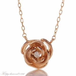 バラのモチーフ K18金ネックレス